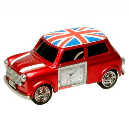 Union Jack British Red Mini Clock